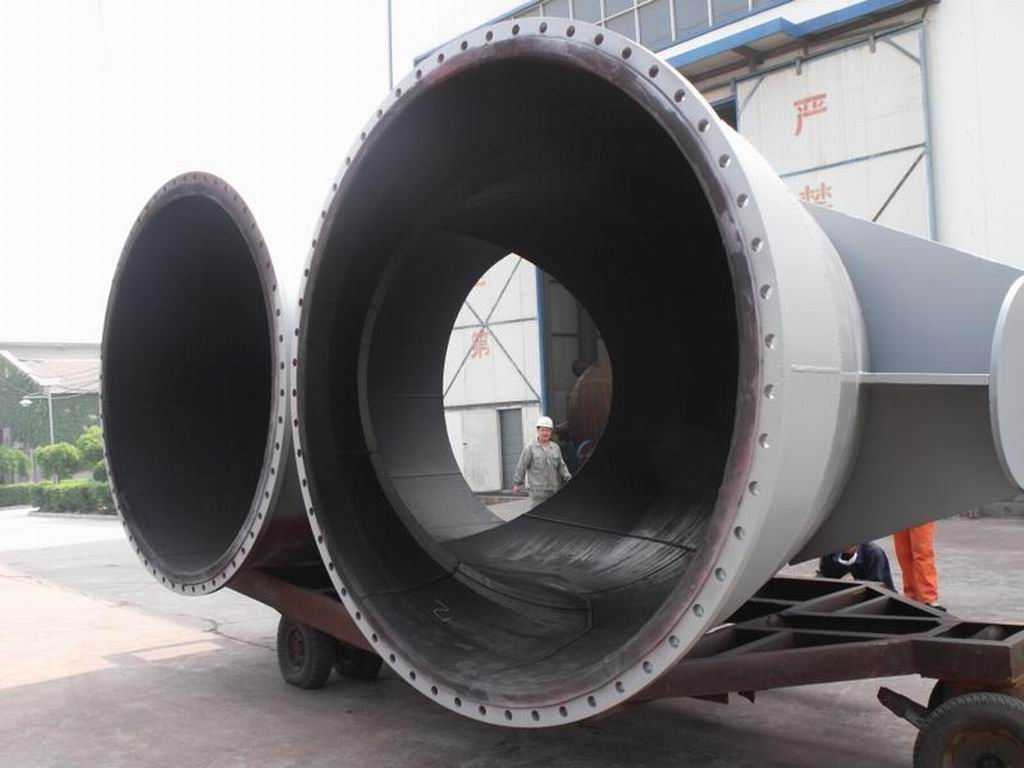 Rubber lined steel pipe best solution to pipeline