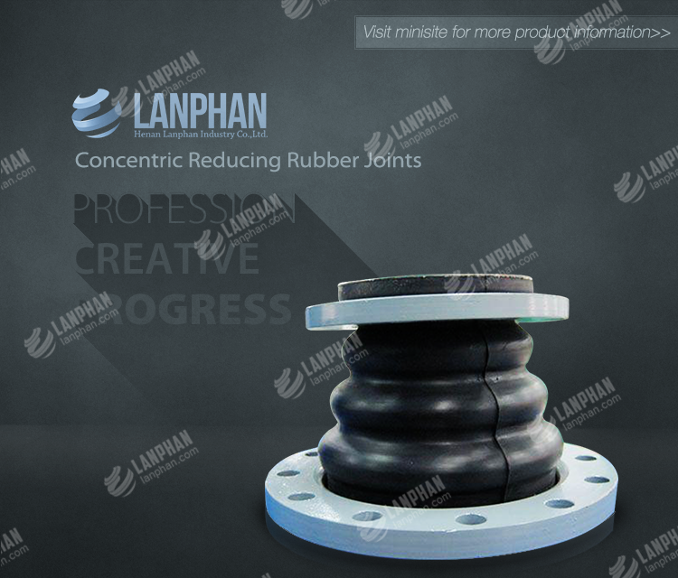 concentric reducing rubber joint