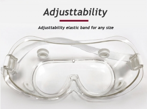 PVC anti-fouling and splash-proof clear medical goggles